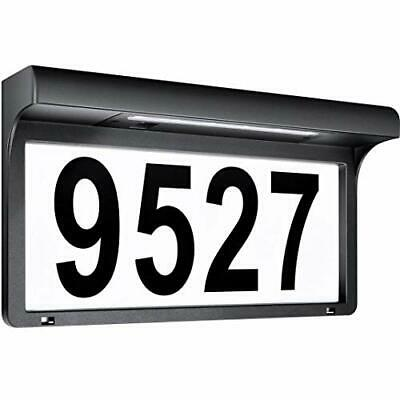 House Numbers Solar Powered Address Sign LED Illuminated Outdoor Metal Plaque  • 32.31£
