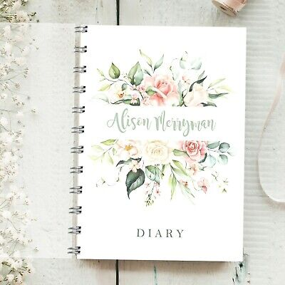 £12.95 • Buy Personalised Diary Rose Bouquet  Any Month / Year Start, Planner, 2021 2022 2023