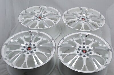 $539 • Buy 4 New DDR R25 17x7 5x100/114.3 40mm White Machined 17  Wheels Rims