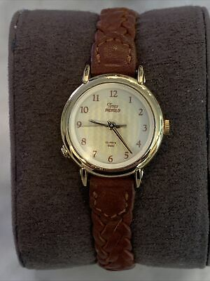 Vintage Timex Ladies Quartz Easy Reader Braided Leather Strap + New Battery! • 8.84£