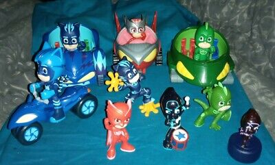 Bundle Of PJ Masks Vehicles And Figures • 22£