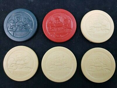 £10.05 • Buy Clay Poker Chips  Stop Monkeying  Monkey & Dogs Playing Cards Qty 6 Vintage Rare