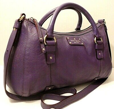 $ CDN33.17 • Buy Kate Spade New York Purple Genuine Leather Crossbody Shoulder Bag Purse