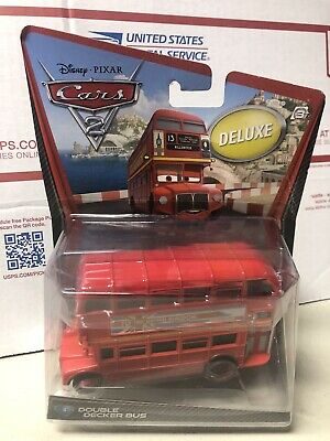 $ CDN31.88 • Buy Disney Pixar Cars 2 Deluxe Double Decker Bus #4 By Mattel Diecast