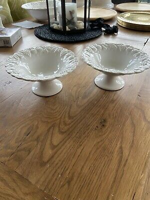 Marks And Spencer Footed Bowls - White Fruit Embossed • 16.99£
