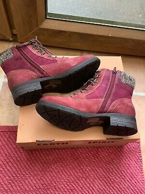 Ladies Ankle Boots Size 4 Burgundy • 28£