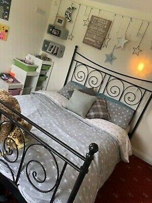 Ikea Metal Bed Frame 2 X 1.65mtrs Queen / King Excellent Condition.  • 125£