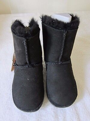REDUCED FOR SALE FITFLOP Kids Mukluk Black Boots Suede Leather Shoes UK Size 11  • 44.99£
