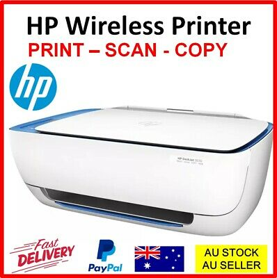 AU89.90 • Buy HP Wireless Printer DeskJet All-In-One Copy Scan Print Printing WITH STARTER INK