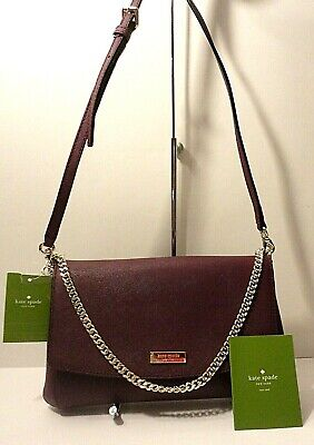 $ CDN52.31 • Buy New Kate Spade Laurel Way 100% Leather Weekend Crossbody Shoulder Purse Bag $229