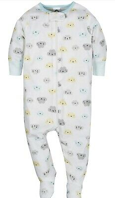 Pack X2 Zip Sleepsuit/ Baby Boy All In One. 0-3 Months. NEW. Cloud & Elephant • 8£