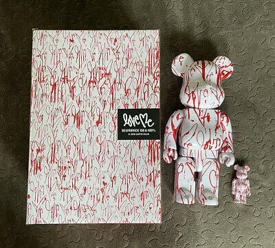 $215 • Buy Medicom Toy Be@rbrick Bearbrick Curtis Kulig LOVE ME 100% & 400% Set