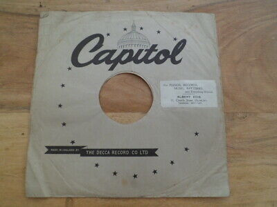 10  78rpm CAPITAL DECCA RECORD Original Paper Record Sleeve Gramophone (SN0135)  • 4.99£
