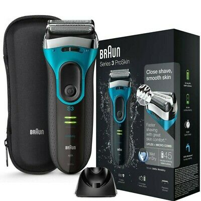 View Details Braun Series 3 ProSkin 3080s Wet And Dry Mens Electric Rechargeable Shaver Razor • 170.00£