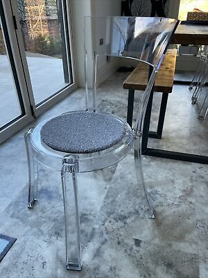 Ikea Stein Ghost Plastic Dining Chair And Seat Pad Lytham Fy8 *6 AVAILABLE* • 55£