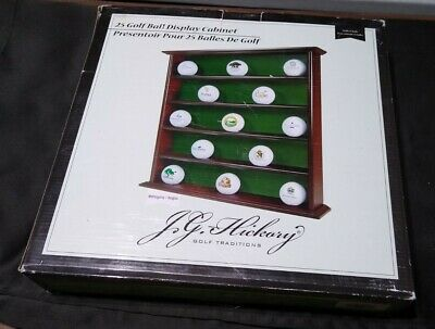 Jg Hickory Golf Traditions Black Wood 25 Golf Ball Display Case Cabinet - New • 18.81£