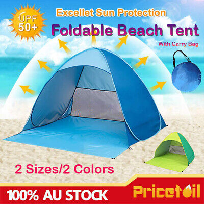 AU39.98 • Buy Pop Up Beach Tent Camping Portable Hiking Tents 2/4 Person Sun Shelter AU