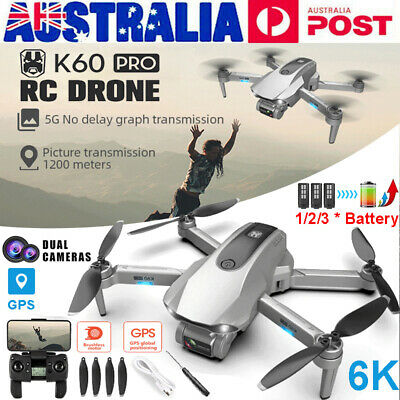 AU186.99 • Buy 5G 6K GPS Drone X Pro With HD Dual Camera Drones WiFi FPV Foldable RC Quadcopter