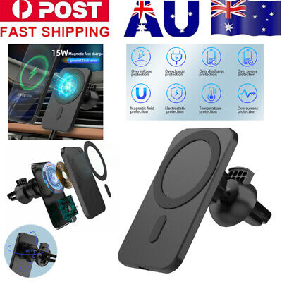 AU10.99 • Buy Car Mount Wireless Charger +Mag Safe For IPhone 12/12 Pro/12 Mini/12 Pro Max