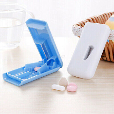 AU16.41 • Buy Tablet Pill Cutter Splitter Medicine Box Storage Case Crusher Grinder Divider