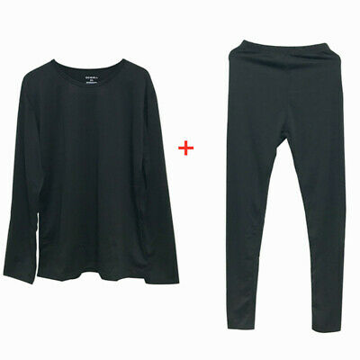 Ladies Women Thermal Underwear Set Top Warm Winter Base Layer Shirt S M L XL XXL • 4.90£