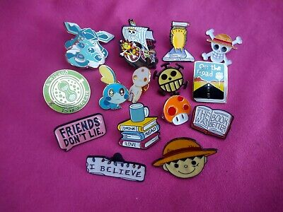 Job Lot Pin Badges - Anime, Pokemon, Stranger Things, Bookworm, Potter • 2.99£