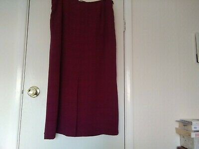 Alex And Co Skirt -  Dark Red (claret) - Size 18 • 9.99£