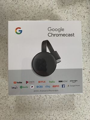 AU39 • Buy NEW Google Chromecast (3rd Generation) HDMI Media Streamer NEW (US Model)