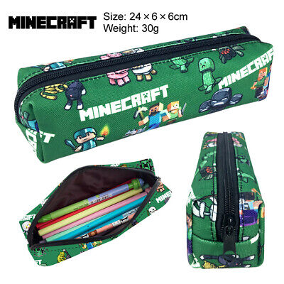 AU19.50 • Buy Minecraft Pencil Case Students Canvas With Minecraft Character W 3 Diff Designs