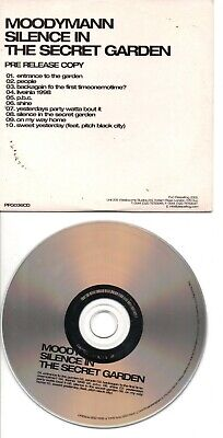 Moodymann Rare Uk Promo Cd In Card Ps Silence In The Secret Garden • 7£