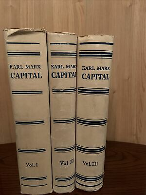 Capital By Karl Marx In 3 Volumes. Good Condition. With Slipcases • 105£
