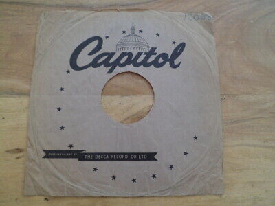 10  78rpm CAPITAL DECCA RECORD Original Paper Record Sleeve Gramophone (SN0134)  • 4.99£