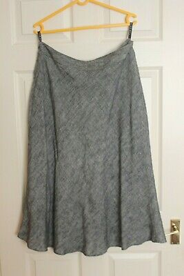 Ladies Alex & Co Fully Lined Grey Linen Mix Skirt Size 16 • 4.50£