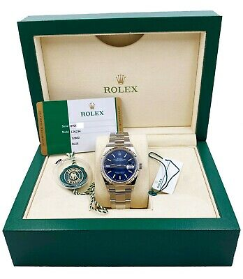 $ CDN12017.82 • Buy BRAND NEW Rolex Datejust 126234 Blue Dial Stainless Steel Box Papers