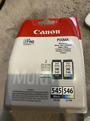 Canon PG-545 / CL-546 Ink Cartridge - Pack Of 2 • 17£