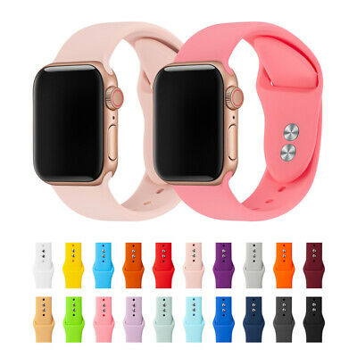 $ CDN4.43 • Buy 38/42/40/44mm Silicone Sports Band IWatch Strap For Apple Watch Series 5 4 3 2 1