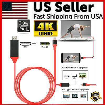 $8.69 • Buy USB-C Type C To HDMI HDTV TV Cable Adapter For Samsung Galaxy S10 Note 9 MacBook