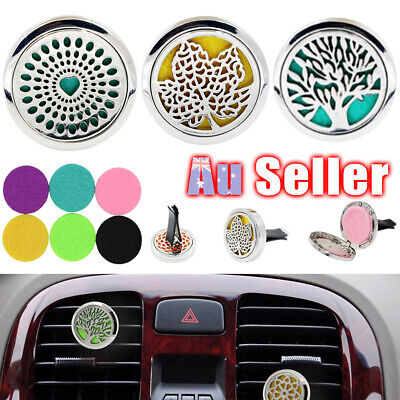 AU10.75 • Buy Fragrance Air Vent Essential Oil Freshener Diffuser Aromatherapy Stainless Car