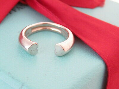 £144.86 • Buy Tiffany & Co Silver Tenderness Heart Picasso Ring Band Size 8