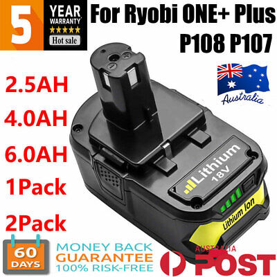 AU32.59 • Buy 18V 9AH 6Ah 3AH Li-ion Battery For Ryobi One Plus P108 P104 P107 P102 RB18L50 AU
