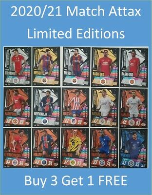 AU19.99 • Buy 2020/21 Match Attax UEFA Limited Editions Buy 3 Get 1 FREE Messi Ronaldo Mbappe