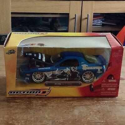 Jada Toys Mazda RX-7 FC3S Blue Graphics 1:24 Scale Aged 8+ • 41£