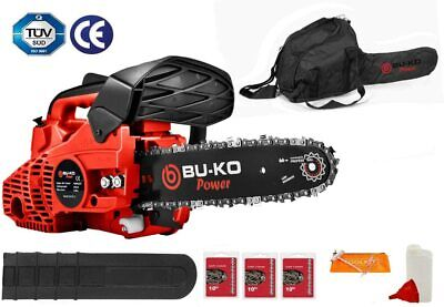 "View Details 26 Cc Lightweight 3.5kg Top Handled Petrol Chainsaw 3 Chains & 10"" Bar Included • 79.99£"