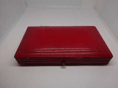 Quality Red Leather Medal Box Livery St Birmingham • 15£