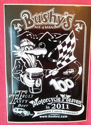 Bushy's Sticker Isle Of Man TT Races  Mountain Course Centenary MGP 2011  • 2.60£