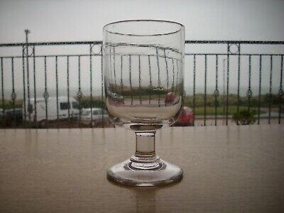 ANTIQUE Victorian Wine Glass PUB RUMMER. WITH STRIATIONS,TOOL MARKS, ETC.  • 20£