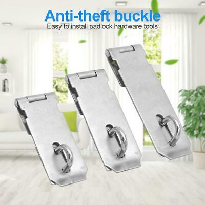 Anti Theft Hasp Staple Shed Latch Stainless Steel Door Lock Padlock Clasp Hardwa • 6.58£