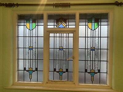 Stained Leaded Glass Windows ~ 1930's ~ Reclaimed • 0.99£