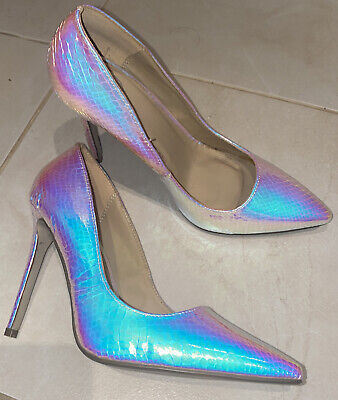 Missguided Size 39 Iridescent Shoes (Tried On Once) • 6.99£