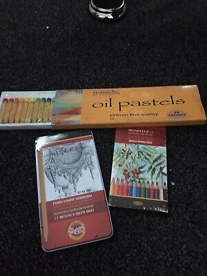 Set Of Artist Pencils And Oil Pastels New See Details  • 5£